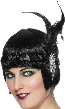 Net Toys Charleston Stirnband Schwarz 20er 30er Jahre Haarband Kopfband Kopfschmuck Accessoires Kostüm Zubehör