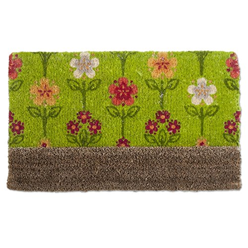 Entrance Scrape (tag - Florets Boot Scrape Coir Mat, Decorative All-Season Mat for the Front Porch, Patio or Entryway, Green)