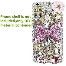 KAKA(TM) 3D Bling Pearls Diamond DIY Material for iPod Touch 2 3 4 5,Apple iPhone 3 3G 3S 4 4S 5 5C 5S 6 6 Plus,Samsung Galaxy S6/S6 edge/A7/A5/S4 I9500/S4 Mini/S5 I9600/S3 I9300/S2/Grand 2/Ace2/Note 2 N7100/Note 3 N9000/Note 4 N9100/Mega 6.3 I9200/Mega 5.8 I9152,LG Nexus 5,LG G3/G2/G2 mini/G Flex/G Pro 2/LG F70/LG Optimus G Pro E980 F240 E986 F240k,Nokia Lumia920 928 520 720 1020 1520,Sony Xperia Z L36h/Z1 L39h/Z1S/Z2/E1,Motorola Moto G/X,Blackberry Z10/Z30/Q10,HTC One M7/M4 Mini/X/Max/M8 Etc