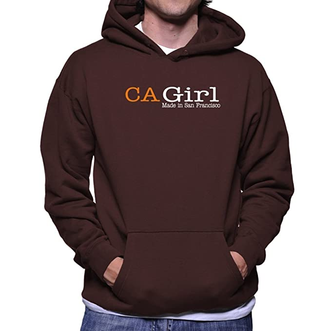 Teeburon ID Girl Made in San Francisco Sudadera con capucha: Amazon.es: Ropa y accesorios