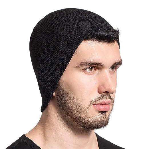 69edd4335c Leucos Ticte Beanie Knit Hat Men Women Cuffed Plain Cap Skull Toboggan at  Amazon Men's Clothing store: