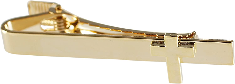 Forge Men's Tie Bar Cross On Flat Bar (Gold)