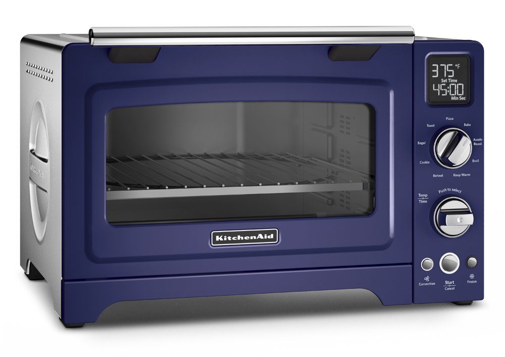 KitchenAid KCO275BU Convection 1800-watt Digital Countertop Oven, 12-Inch, Cobalt Blue