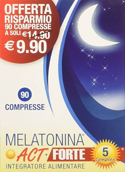 Linea ACT - Melatonina ACT+ Forte 5 Complex - Integratore Alimentare a base  di Melatonina - 90 compresse  Amazon.it  Salute e cura della persona 332b360c3d3e