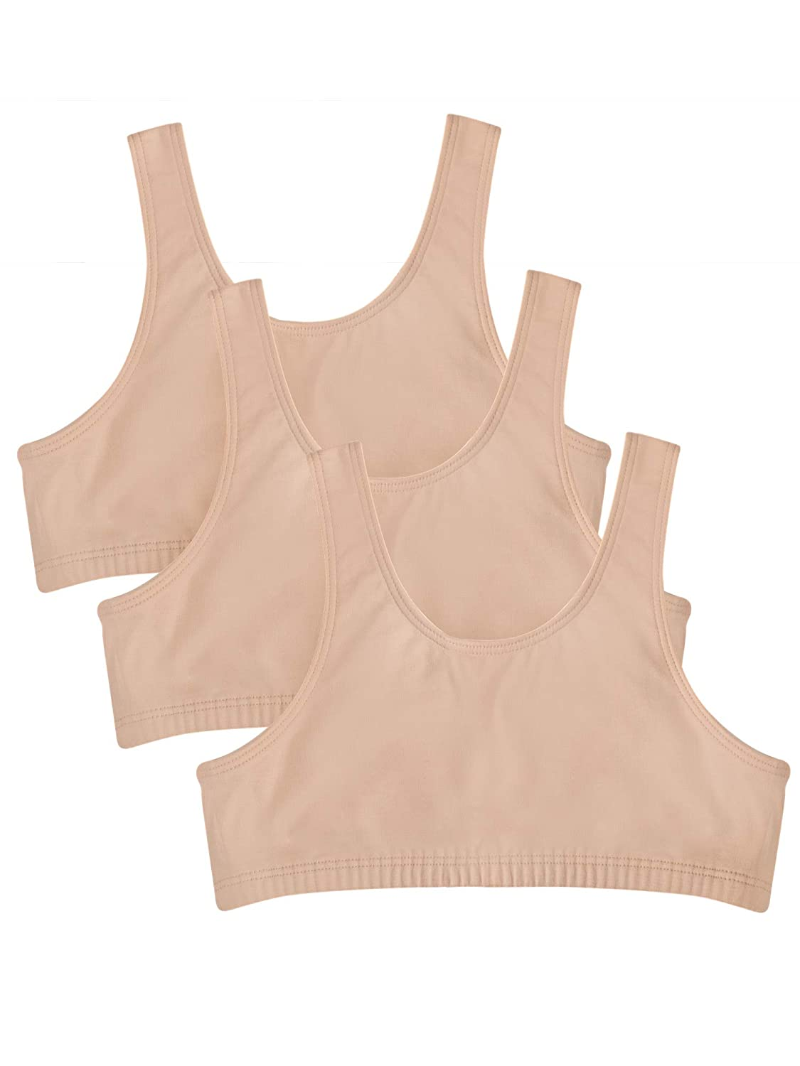 Fruit of the Loom Big Girls Cotton Built-Up Sport Bra Fruit of the Loom Girls 7-16 Bras 94022