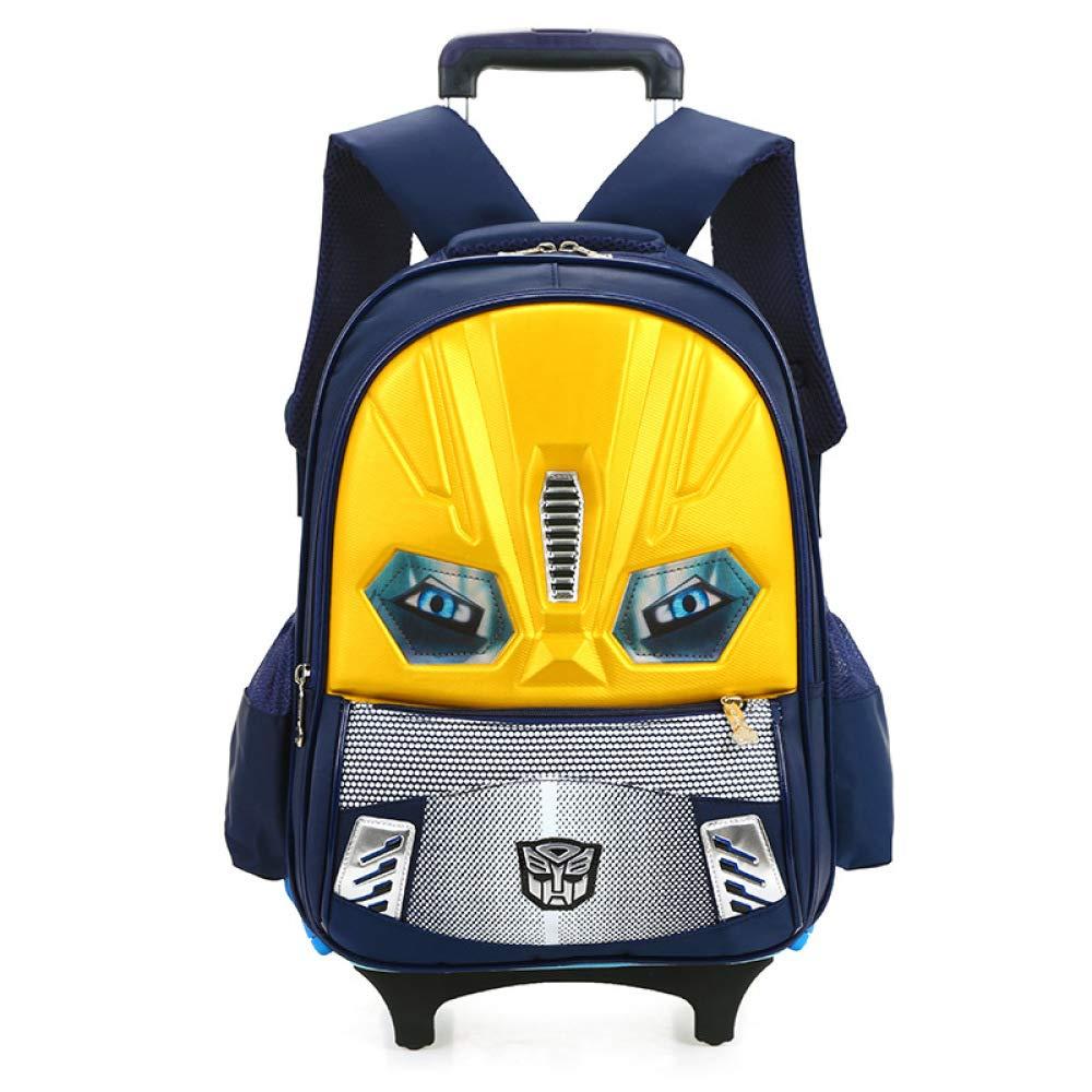 XIAOMIN Bolsa De Dos Ruedas Impermeable para Niños Niños Y Niños Bolsa De Equipaje Desmontable De Viaje Al Aire Libre- Azul, Rojo, Amarillo,Yellow-tworounds-34  19  44cm