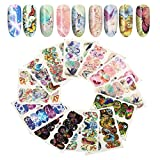 Nail Art Decal, 12Sheets/Set Nail Decal Sticker Mariposa Patrón autoadhesiva manicura accesorio DIY decoración