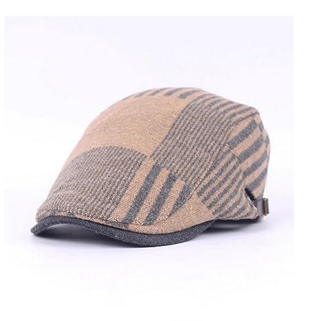 MAOZIX Sombrero de Espiga de Algodón para Hombre Gorras de Boina ...