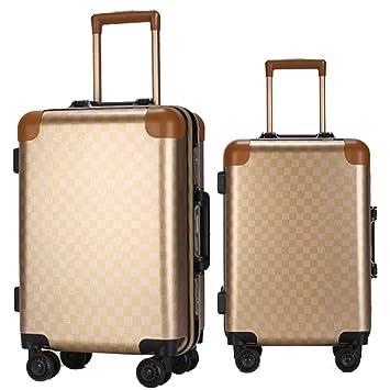 Juego de Maletas 20in 24in Hardshell 2 piezas Juego giratorio de equipaje Equipaje anidado Maletas de viaje Maletas Maletas para llevar Monturas verticales ...
