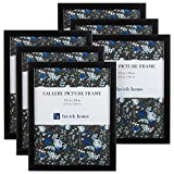 11 x 14 photo frame - Picture Frame Set, 11x14 Frames Pack For Picture Gallery Wall With Stand and Hanging Hooks, Set of 6 By Lavish Home (Black)