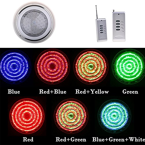 Dtemple 12V Underwater Pool Led Lights with 558 LED, 7 Colors Changing Swimming Pool Led Light Fountains Lamp with Remote Control, 33W (US Stock) by Dtemple