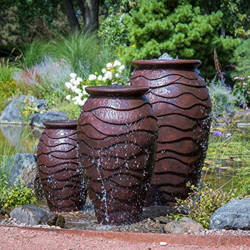 (Aquascape Scalloped Urn Water Fountain for Outdoor, Landscape and Garden, Medium, 45-inch H | 78239)