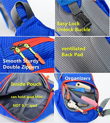 Color Bag Men's Resistant Bags Backpack Body Shoulder Nylon Water Cross Chest Women Orange Solid Sling Z0EqwAdA