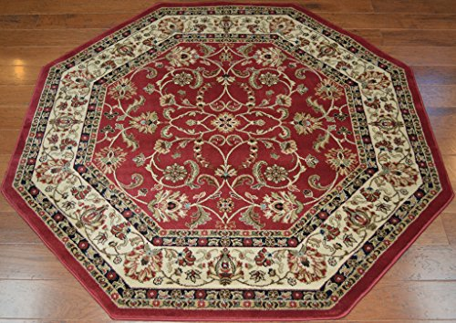 Classic Keshan Traditional Red Area Rug  - Claret Traditional Rug Shopping Results
