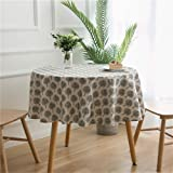 MF Cotton Linen Round Tablecloth Geometry Printing Tablecloth Outdoor Wedding Decoration (Style 4 Round 150cm/59inch)