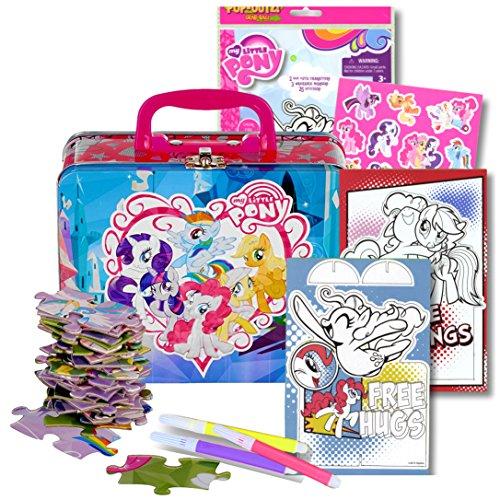Disney/Pixar Studios My Little Pony Lunch Box Activity Set - My Little Pony Tin Box with Handle, 48 Pc Puzzle and My Little Pony (Little Tin Box)