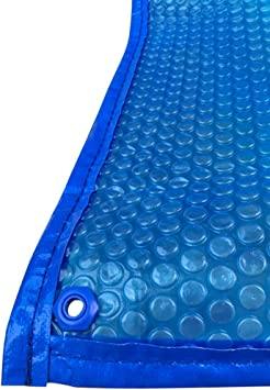 Cubierta de piscina azul para lonas película aislante para piscinas pequeñas Cubierta de película de burbujas de PE cubierta de polvo para baño termal (dimensiones: 8 × 8 m): Amazon.es: Bricolaje y herramientas