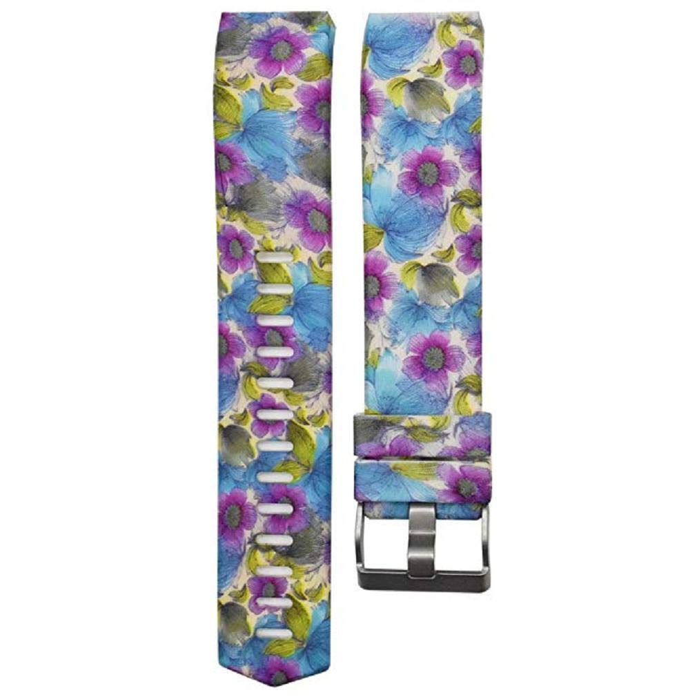 Fashion Clearance! Noopvan for Fitbit Charge 2 Straps Replacement Bands Adjustable Accessory Wristbands for Fitbit Charge 2 Large Small Variety of Colors Patterns (D)