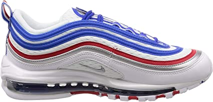 Disparates entrar baño  Amazon.com: Nike Air Max 97 921826-404 - Zapatillas para hombre (talla 44),  color blanco y azul: Sports & Outdoors