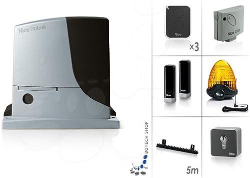 NICE ROBUS 1000 Motor 24V para puertas correderas - Kit XL: Amazon.es: Bricolaje y herramientas