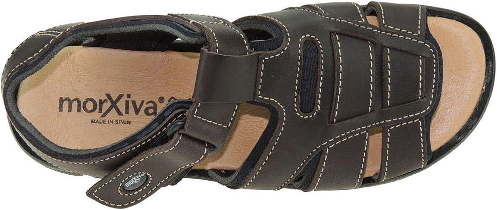 MORXIVA 7001 Sandalia Arizona California Velcros Forro Neopreno Punta Abierta para Hombre
