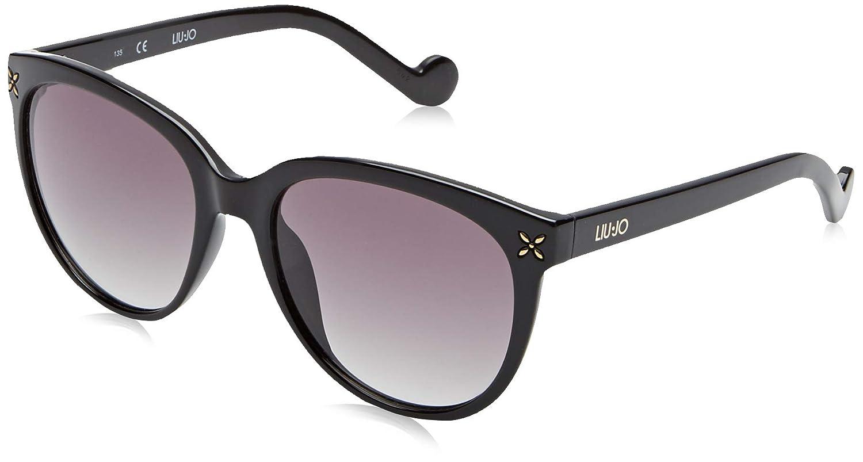 Liu Jo LJ636S 001 55 Gafas de sol, Ebony, Mujer: Amazon.es ...