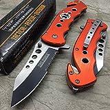Rescue Survival Knife - Tac Force Orange Emergency EMT EMS Rescue Handy Medical Pocket Knife
