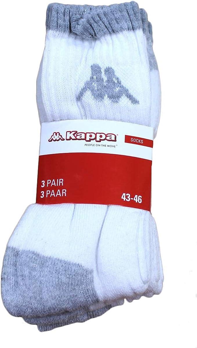 9 Paire KAPPA sonotu 3 chaussettes de sport taille 35-46 Unisexe Tennis Chaussettes