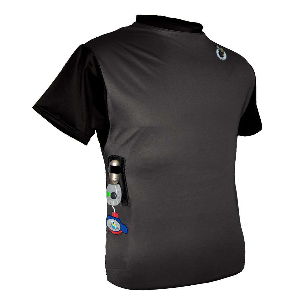 Float Tech Quatic Inflatable Rash Guard - Black - Size M (49019)