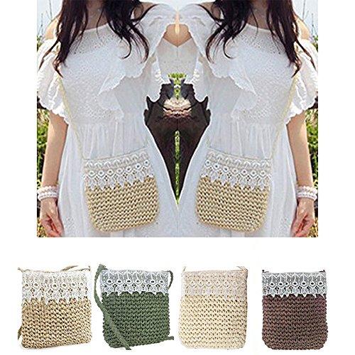 De Creux Dentelle Sling Femmes D' Mignon Abuyall Arc Plage Paille Sac Crochet qUwx8gT