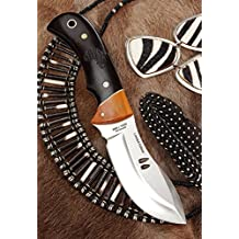 "MUELA KUDU 4.02"" Fixed Blade Hunting Knife with Leather Sheath"