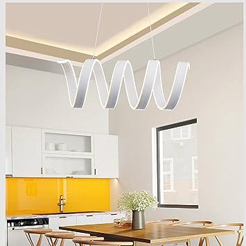 Kreative Spirale Pendelleuchte LED Esstischlampe Modern Minimalistische  Design Pendellampe Aus Aluminum Und Acryl Hängelampe Doppelseitiges Glühen
