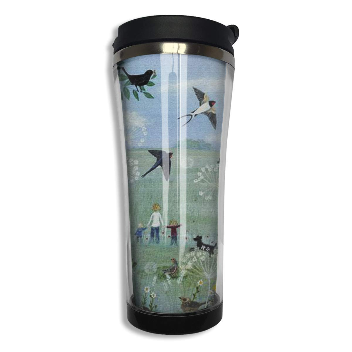 Spring Oil Painting Stainless Steel Insulated Travel Mug Car ...