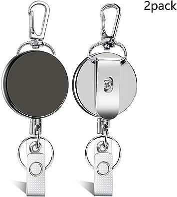 Heavy Duty Badge /& Key Reels w// Belt Clip /& Nylon Cord by Specialist ID 5 Pack
