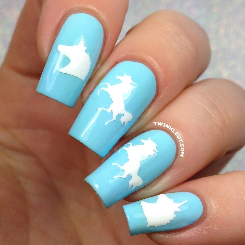 Amazon Com Whats Up Nails Unicorn Nail Stencils