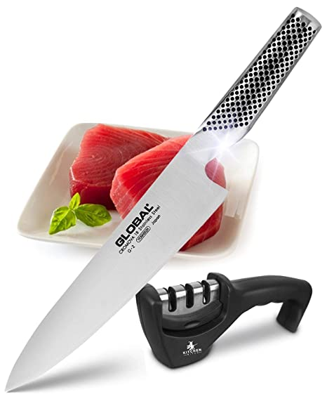 Amazon.com: Cuchillo de chef Global G-2: Gyuto japonés de 8 ...