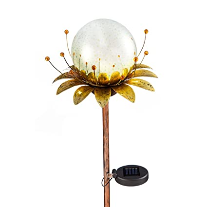 Ordinaire Evergreen Stargazing Blooming Orb Solar Powered Outdoor Safe Garden Stake