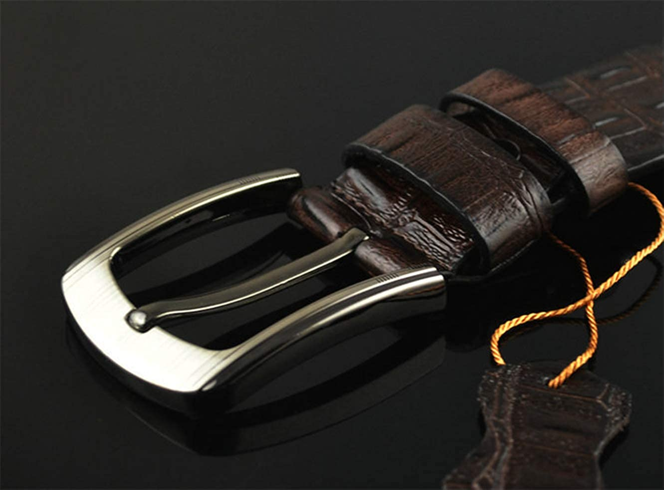 Pin buckle belt mens belt leisure belt leather belt