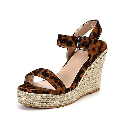 3d970534e260b0 Sandale Compensées Femme Plateforme Été Espadrilles Espadrilles Espadrilles  Bout Ouvert Ouvert