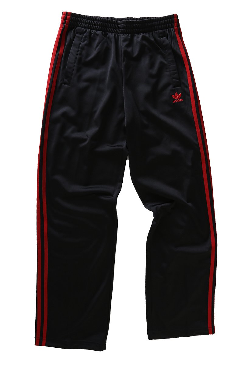 adidas Pantalón Firebird de deporte, Black/University Red, 176 ...