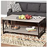 Coffee Table. This piece of living room furniture brings stability and is attractive. This decor is contemporary, rustic and sophisticated. Provides storage shelf and metal frame. Perfect end table, gray wood decoration. Beautiful home guaranteed.