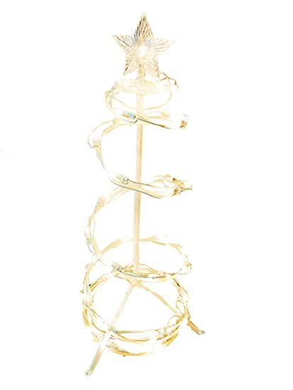 lighted spiral christmas tree 24 pre lit rope light holiday decor
