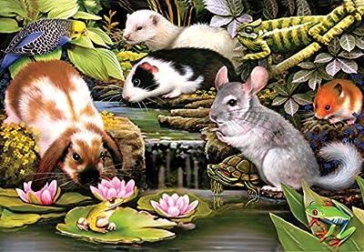 Poolside Pets a 100-Piece Jigsaw Puzzle by Sunsout Inc.