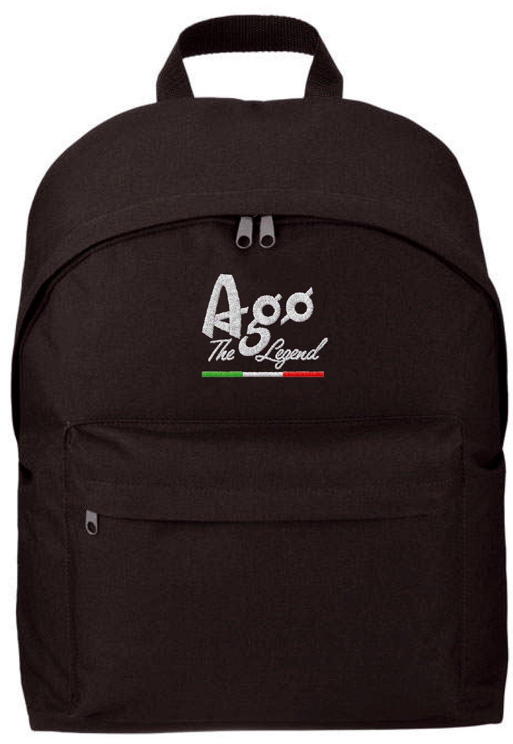 Giacomo Agostini Official Merchandising - Mochila Negro negro: Amazon.es: Equipaje