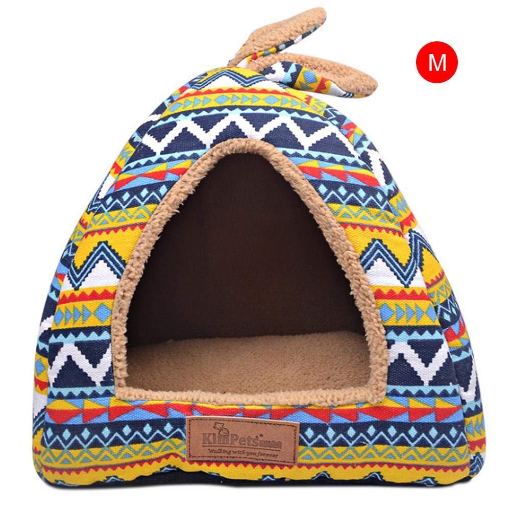 Pournei Caseta de Interior Suave para Mascotas, Perro, Cachorro, Perro, caseta para Mascota, casa para Perro, casa con Alfombrilla portátil y Ideal para ...
