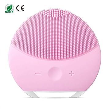 Esponja limpiadora de silicona para la cara, cepillo y masajeador facial eléctrico resistente al agua, sistema limpiador y antienvejecimiento para todo tipo ...