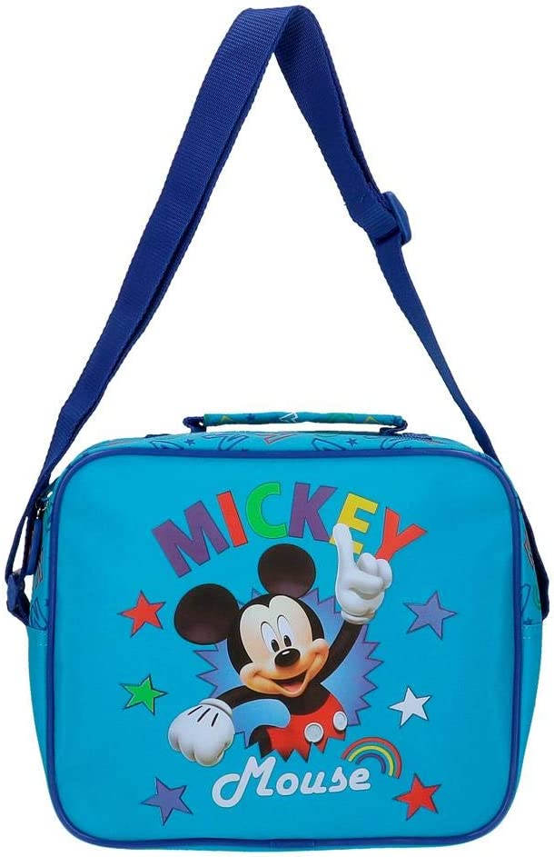 25x19x10 cm Disney Neceser Mickey Stars Adaptable a Trolley con Bandolera Azul