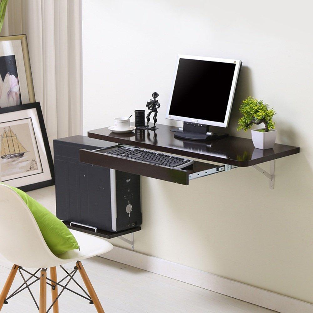 マチョン コンピュータデスク シンプルなデスクトップコンピュータのデスクの壁のテーブル (色 : Black, サイズ さいず : 100*40cm) B07F61YV7WBlack 100*40cm
