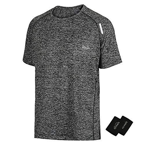 33612ceb26 LIFINAIS Men s Athletic T-Shirt Workout Sports Tech Short Sleeve tee Shirts  Gym Dri Fit