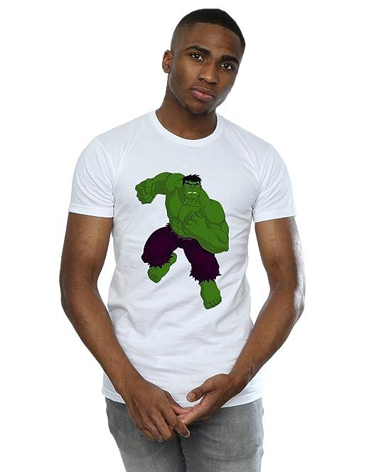Marvel Hombre Hulk Pose Camiseta: Amazon.es: Ropa y accesorios